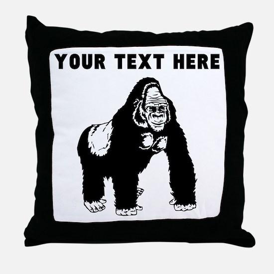 Custom Silverback Gorilla Throw Pillow