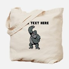 Custom Gorilla Pounding Chest Tote Bag