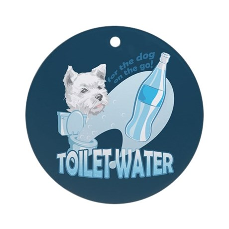 """Toilet Water"" Ornament (Round)"