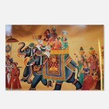 INDIAN ROYALTY ON ELEPHAN Postcards (Package of 8)