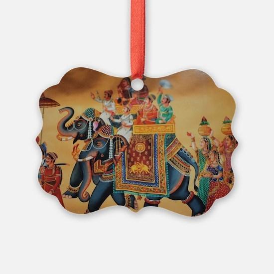 INDIAN ROYALTY ON ELEPHANTS Ornament