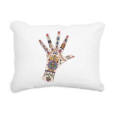DRs Mehndi hand Rectangular Canvas Pillow