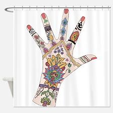DRs Mehndi hand Shower Curtain