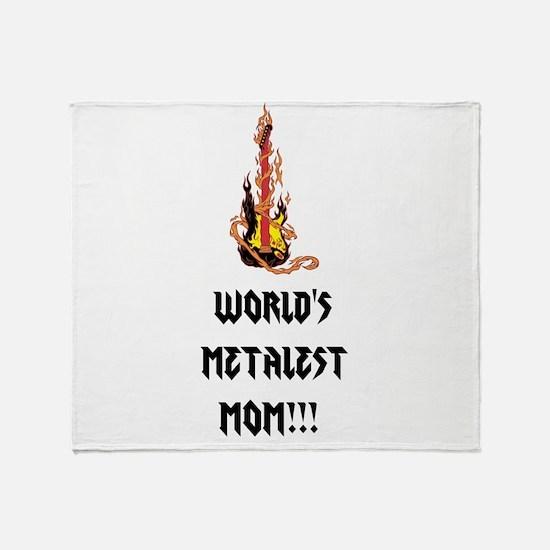 Worlds Metalest Mom!!! Throw Blanket