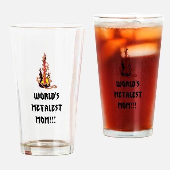 Worlds Metalest Mom!!! Drinking Glass