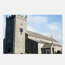Stone church at Hawkshead Postcards (Package of 8)