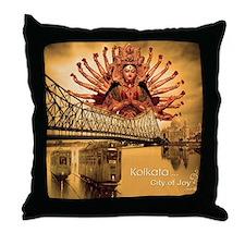 kolkata beauty Throw Pillow