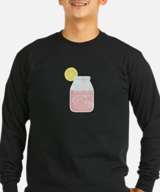 Glass Mason Jar Pink Lemonade Beverage Drink T