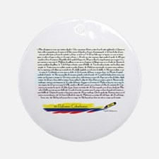 50 refranes Colombianos Ornament (Round)