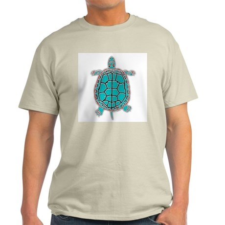 Turtle in Turquoise Ash Grey T-Shirt