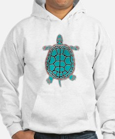 Turtle in Turquoise Hoodie