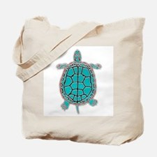 Turtle in Turquoise Tote Bag