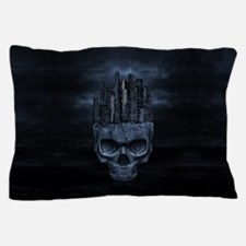 Gothic Skull City Pillow Case