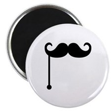 """Mustache on a stick 2.25"""" Magnet (10 pack)"""