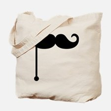Mustache on a stick Tote Bag