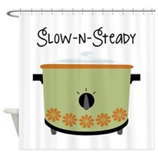Slow-N-Steady Shower Curtain