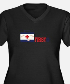FIRST AID Plus Size T-Shirt