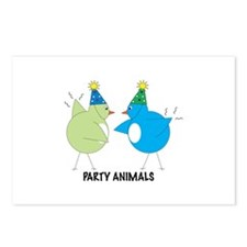 Party Animals Postcards (Package of 8)