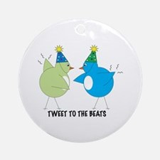 Tweet To The Beats Ornament (Round)