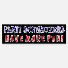 Parti Schnauzers 1.0 Bumper Bumper Bumper Sticker