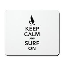 Keep calm and surf on Mousepad