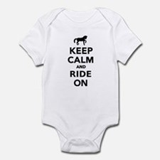 Keep calm and ride on horse Infant Bodysuit