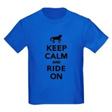 Keep calm and ride on horse T