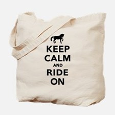 Keep calm and ride on horse Tote Bag