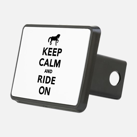 Keep calm and ride on hors Hitch Cover