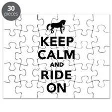 Keep calm and ride on horse Puzzle