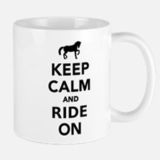 Keep calm and ride on horse Mug