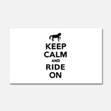 Keep calm and ride on horse Car Magnet 20 x 12