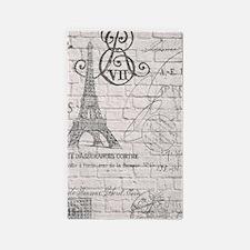 elegant paris Eiffel tower floral art 3'x5' Area R