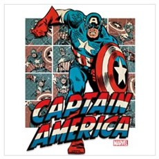 Captain America Classic Wall Art Framed Print