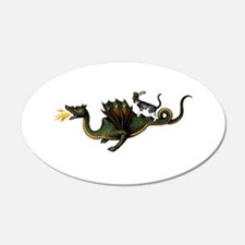 Steampunk Cat Riding A Drago Wall Decal