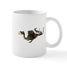 Steampunk Cat Riding A Dragon Mug