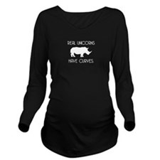 Real Unicorns Long Sleeve Maternity T-Shirt