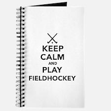Keep calm and play Field Hockey Journal