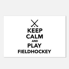 Keep calm and play Field Postcards (Package of 8)