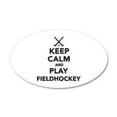 Keep calm and play Field Hoc Wall Decal