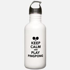 Keep calm and play Pin Water Bottle