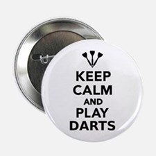 "Keep calm and play Darts 2.25"" Button"