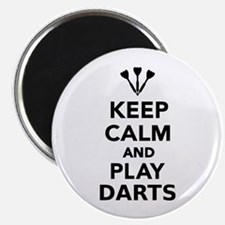"""Keep calm and play Darts 2.25"""" Magnet (10 pack)"""