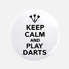 """Keep calm and play Darts 3.5"""" Button"""