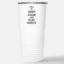 Keep calm and play Dart Stainless Steel Travel Mug