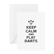 Keep calm and play Darts Greeting Card