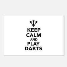 Keep calm and play Darts Postcards (Package of 8)