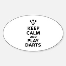 Keep calm and play Darts Decal
