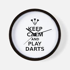 Keep calm and play Darts Wall Clock
