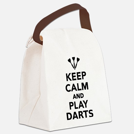 Keep calm and play Darts Canvas Lunch Bag